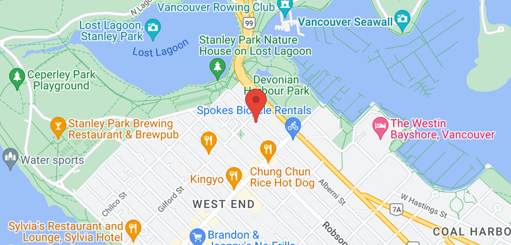 map of 403 1888 ALBERNI STREET