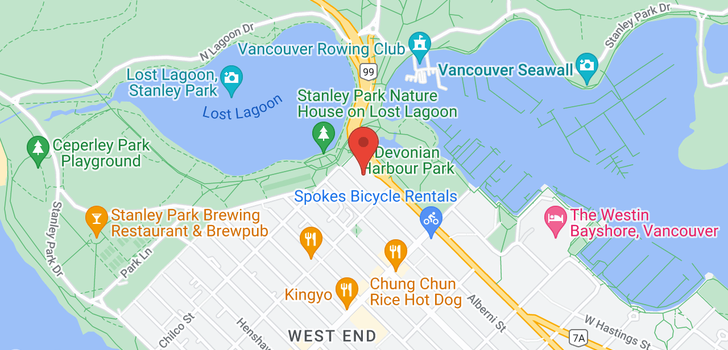 map of 1402 1925 ALBERNI STREET