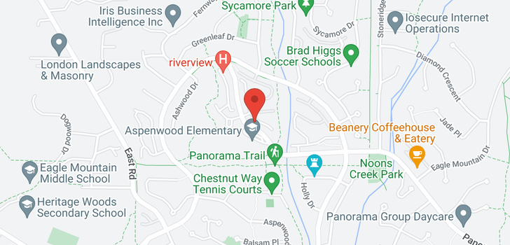 map of 17 2000 PANORAMA DRIVE