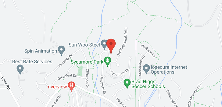 map of 164 SYCAMORE DRIVE