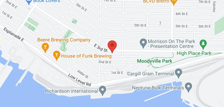 map of 3 533 E 3RD STREET
