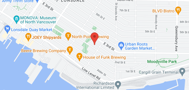 map of 301 360 E 2ND STREET