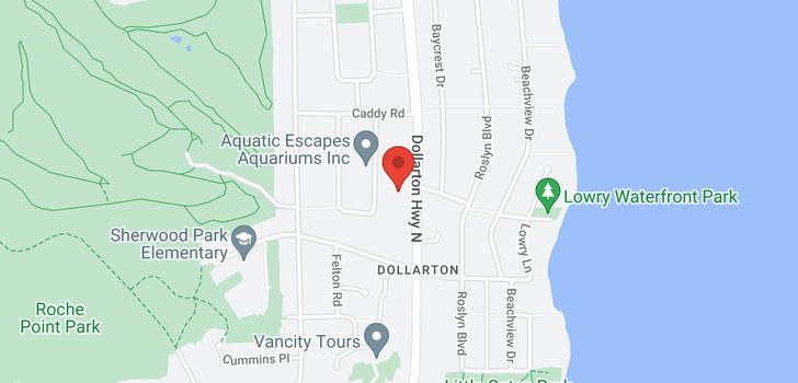map of 587 N DOLLARTON HIGHWAY