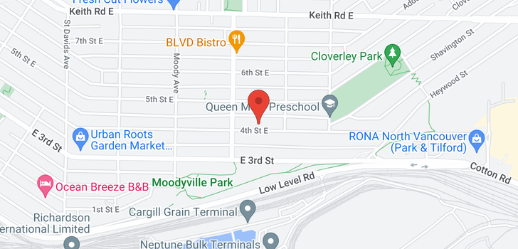 map of 726 E 4TH STREET
