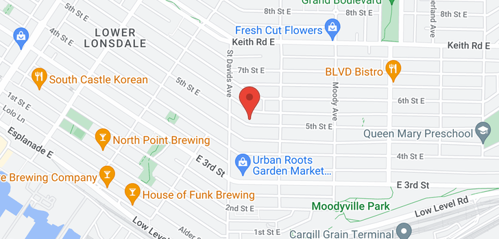 map of 422 E 5TH STREET