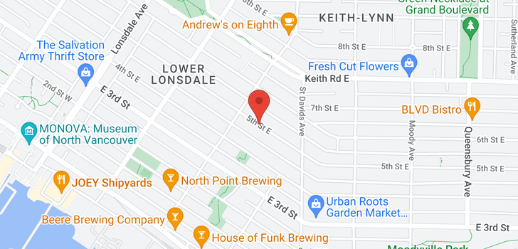 map of 322 E 5TH STREET