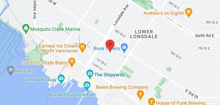 map of PH3 130 E 2ND STREET