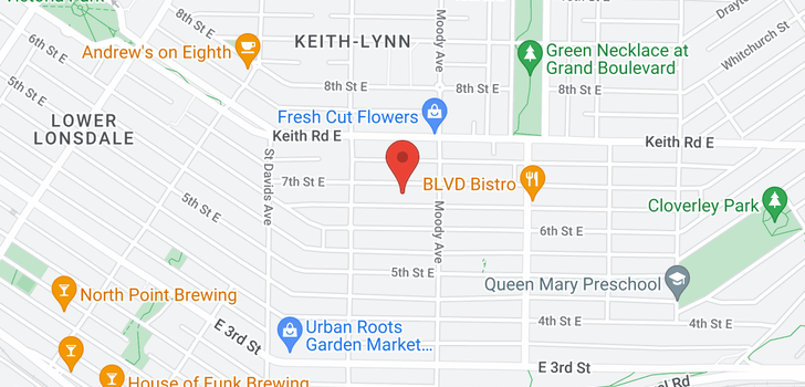map of 539 E 7TH STREET