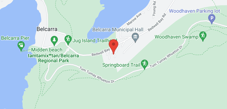 map of 4208 BEDWELL BAY ROAD
