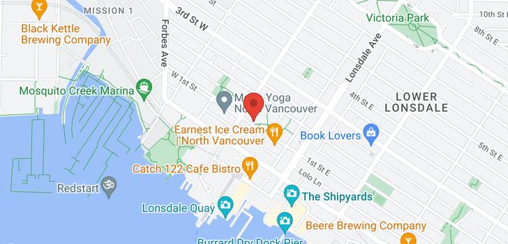 map of 1002 170 W 1ST STREET
