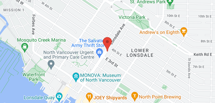 map of 410 332 LONSDALE AVENUE