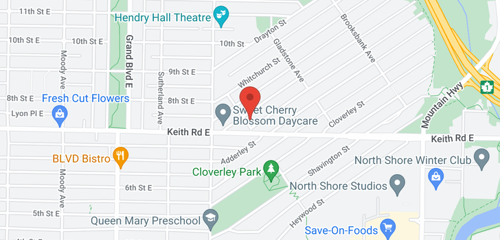 map of 803 CALVERHALL STREET