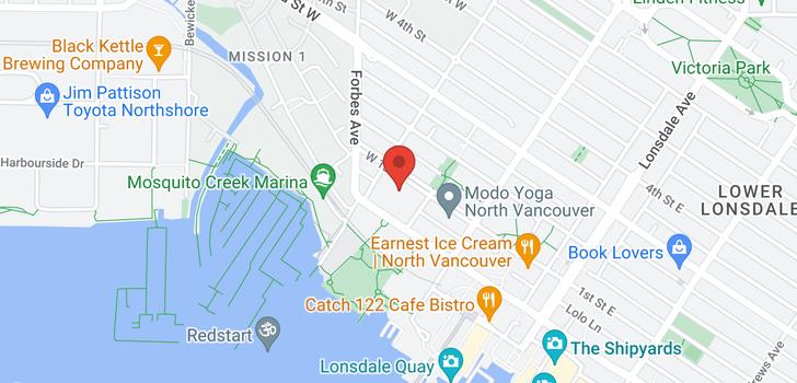 map of 229 255 W 1ST STREET
