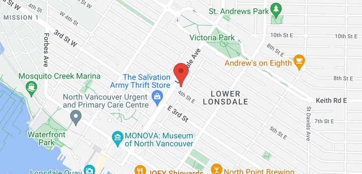 map of 401 408 LONSDALE AVENUE