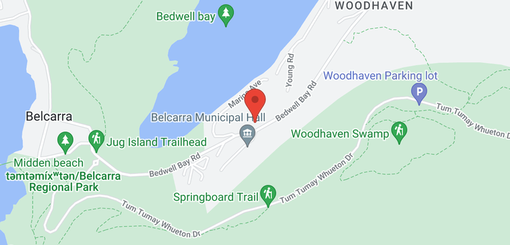 map of 4103 BEDWELL BAY ROAD