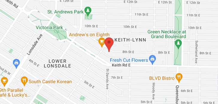 map of 315 E 8TH STREET