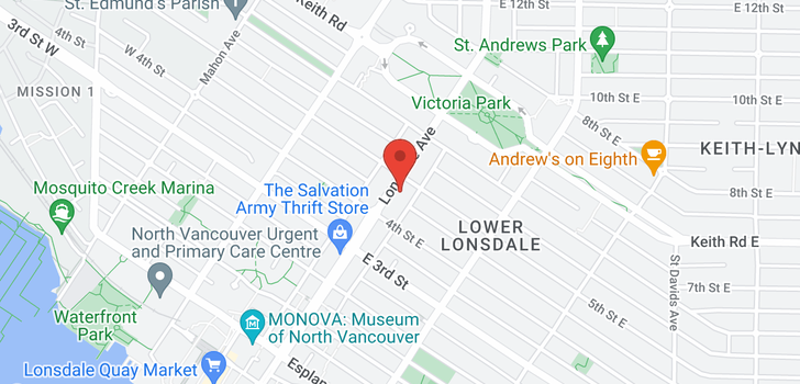 map of 501 444 LONSDALE AVENUE