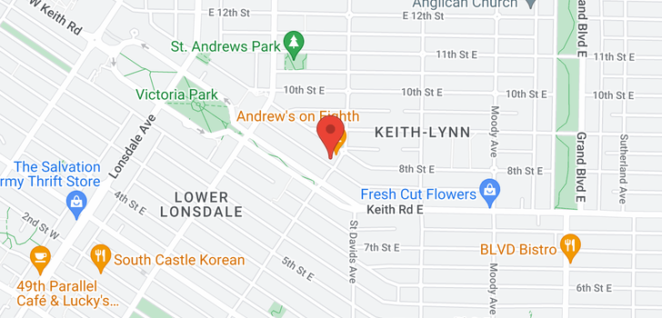 map of 737-745 ST. ANDREWS AVENUE