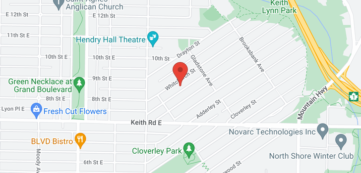 map of 851 WHITCHURCH STREET