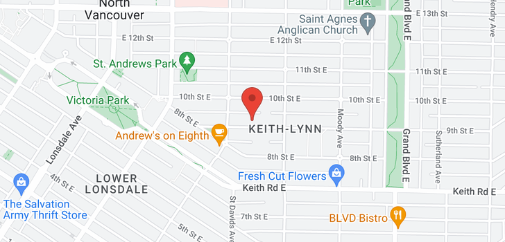 map of 326 E 9TH STREET