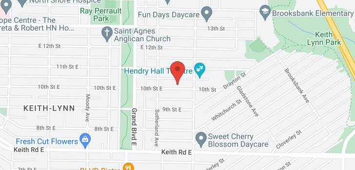 map of 756 E 10TH STREET