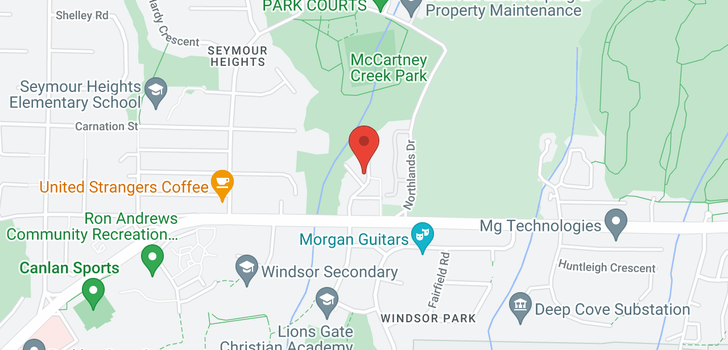 map of 2916 MT SEYMOUR PARKWAY
