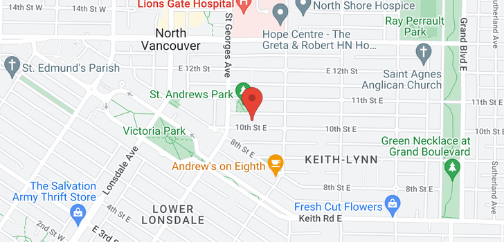 map of 1 226 E 10TH STREET