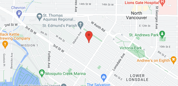 map of 236 W 5TH STREET