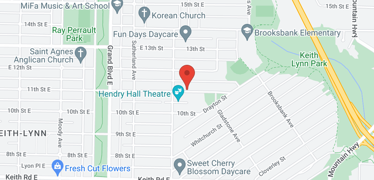 map of 836 E 11TH STREET