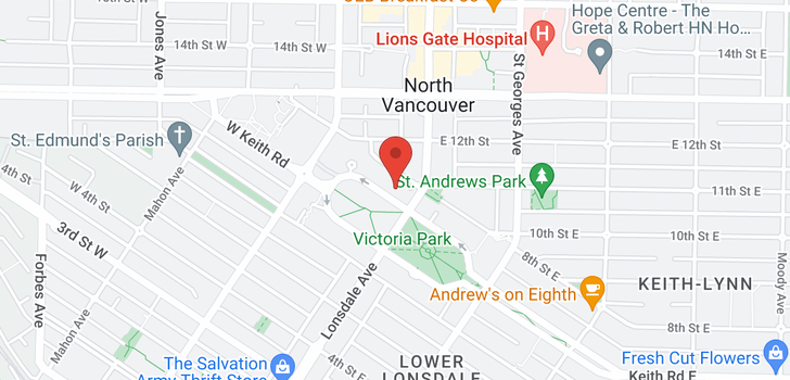 map of 1602 114 W KEITH ROAD