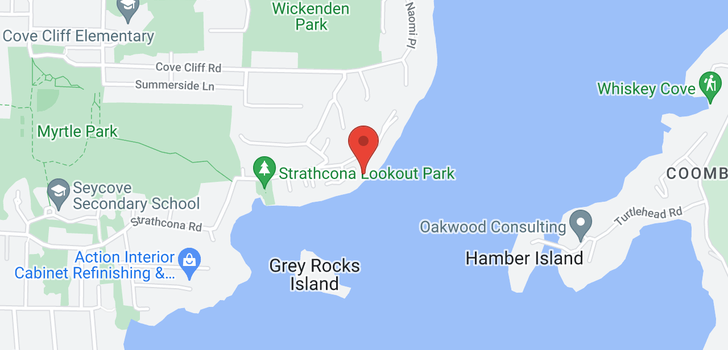 map of 4725 STRATHCONA ROAD