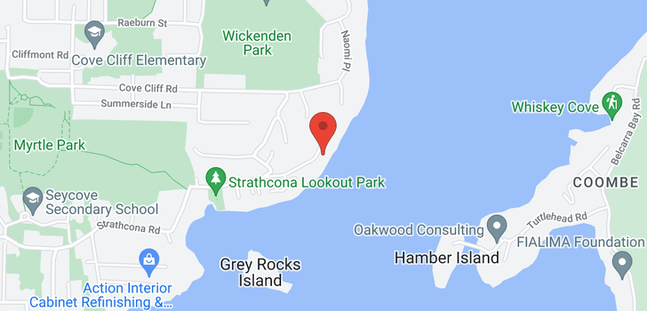 map of 4793 STRATHCONA ROAD