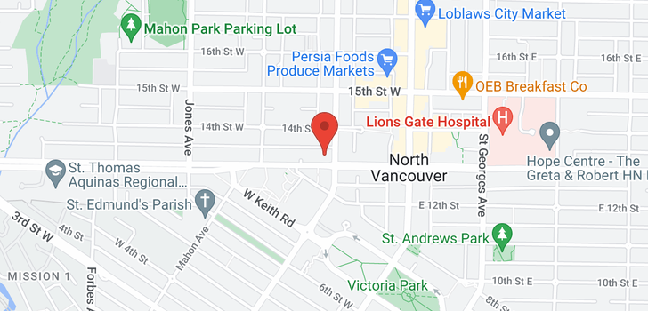 map of 404 210 W 13TH STREET