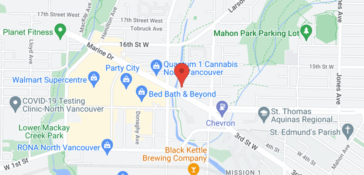 map of 420 733 W 14TH STREET