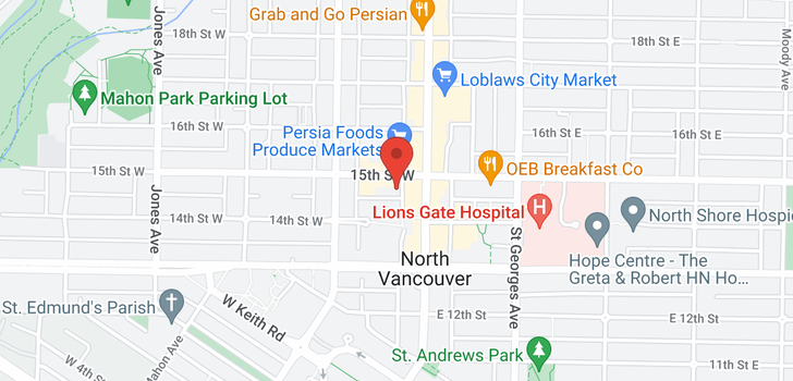 map of 1004 121 W 15TH STREET