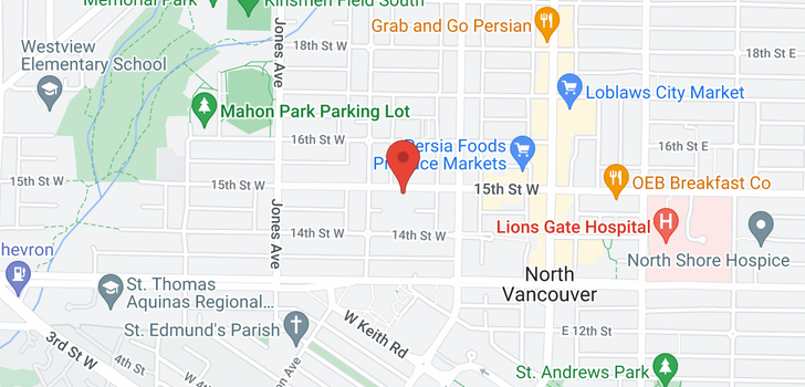 map of 116 245 W 15TH STREET