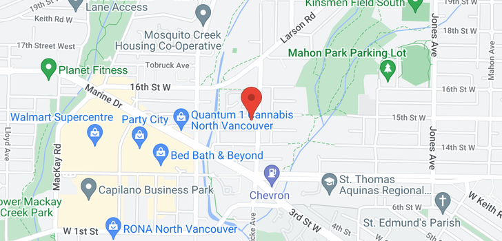 map of 106 715 W 15TH STREET