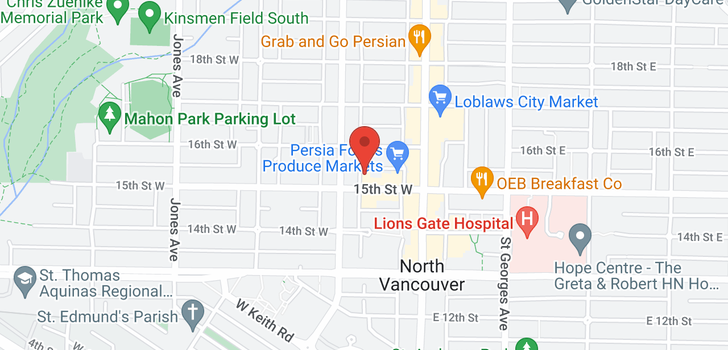 map of 1005 150 W 15TH STREET