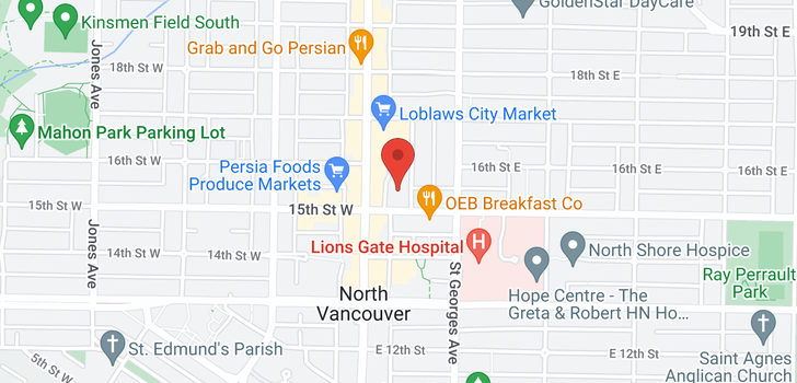map of 1202 1515 EASTERN AVENUE