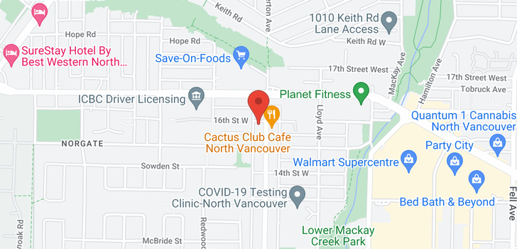 map of 401 1201 W 16TH STREET