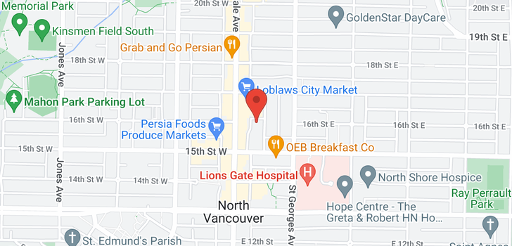 map of 1203 1555 EASTERN AVENUE