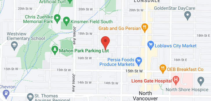 map of 14 230 W 15TH STREET