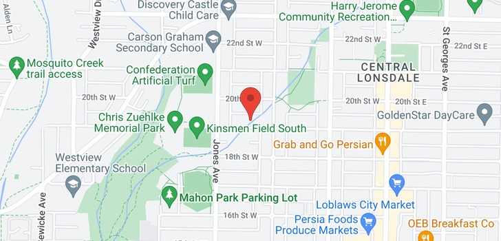 map of 326 W 19TH STREET