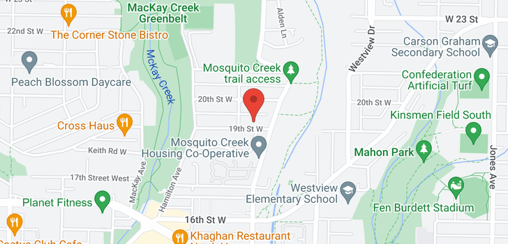 map of 812 W 19TH STREET