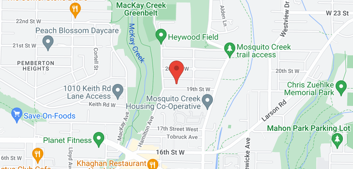 map of 870 W 19TH STREET