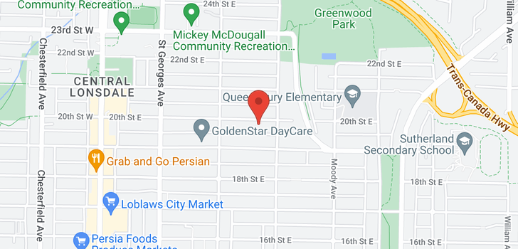 map of 345 E 20TH STREET