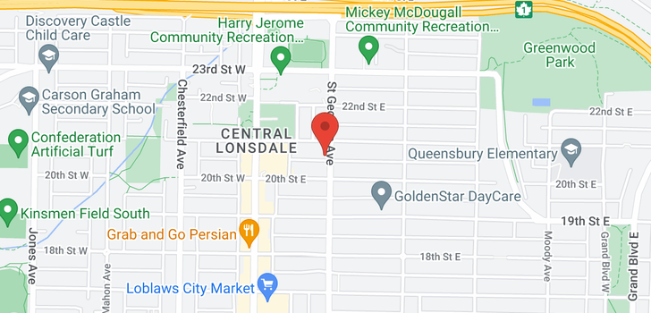 map of 4 2057 ST. GEORGES AVENUE