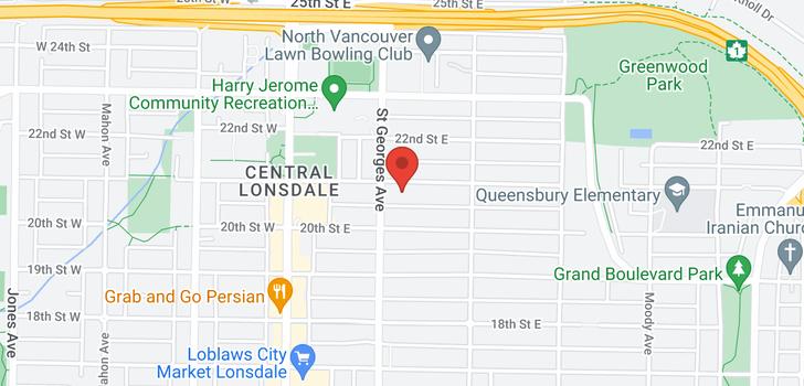 map of 213-215 E 21ST STREET