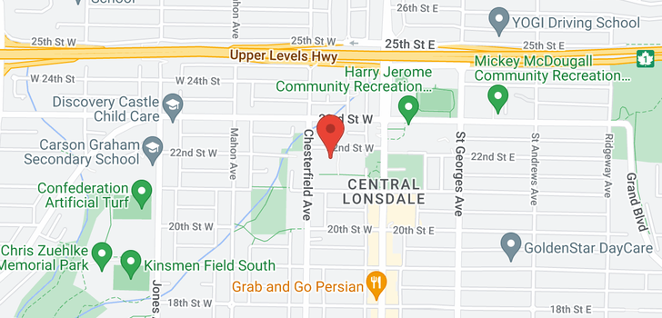 map of 304 139 W 22ND STREET
