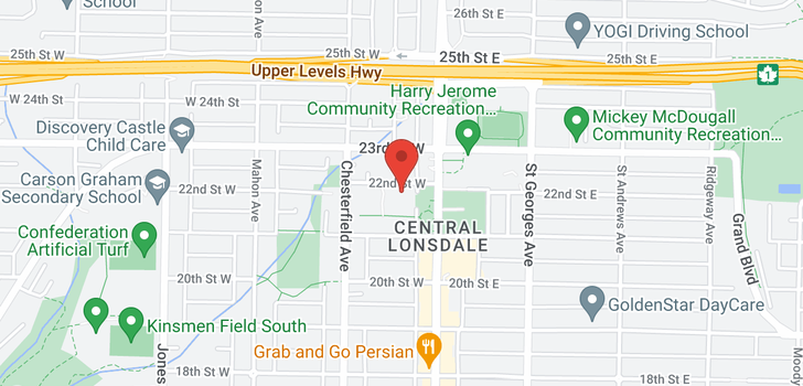 map of 104 119 W 22ND STREET